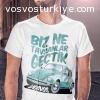 Biz Ne Tavşanlar Geçtik Turkuaz Vosvos Beetle T-Shirt